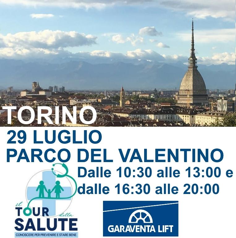 montascale a Torino per il tour della salute