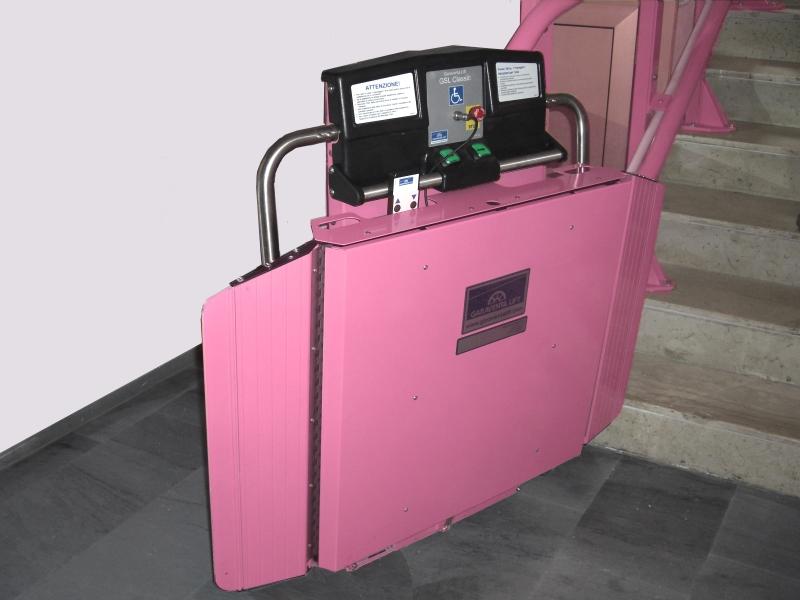 montascale rosa