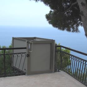 ascensore terrazza in liguria