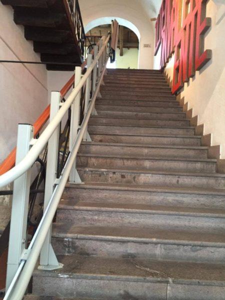 montascale installato a Pescara percorso