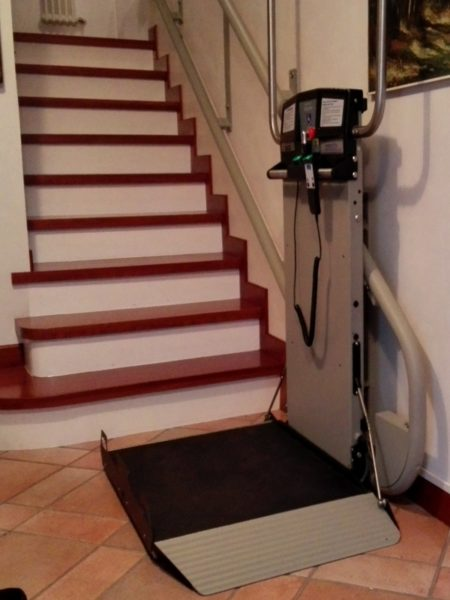 Udine installato montascale per disabili